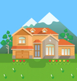 Country house in mountains vector image