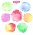 Watercolor stainsSoftcute colors vector image