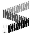 people queue vector image