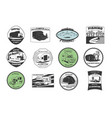 vintage camping and outdoor adventure emblems vector image