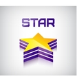 3d shiny star icon logo vector image