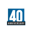 40th anniversary icon birthday logo vector image vector image