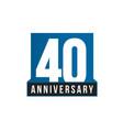 40th anniversary icon birthday logo vector image