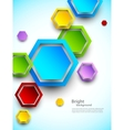 Abstract background with colorful hexagons vector image