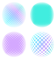 abstract round halftone elements vector image vector image