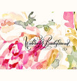 artistic design of abstract trendy pink watercolor vector image vector image