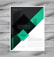 awesome brochure design in green black colors vector image vector image