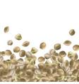background with hemp seeds marijuana bunch vector image vector image