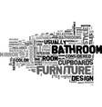 bathrooms design text word cloud concept vector image vector image