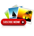 Big red subscribe now button vector image
