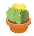 blooming cactus icon cartoon style vector image vector image