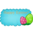 Blue easter banner vector image vector image