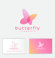 butterfly logo transparent elements spa lingerie vector image