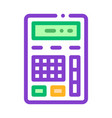 calculator financial electronic mechanism vector image