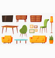 cartoon furniture room furnitures interior vector image vector image