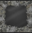 chalk christmas festive frame on blackboard vector image vector image
