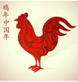chinese new year 2017 rooster horoscope symbol vector image vector image