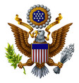 coat arms united states vector image vector image