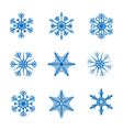 collection snowflakes vector image vector image
