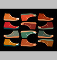 colorful sneakers typographic vintage poster vector image vector image