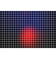 deep blue and red square mosaic background over vector image vector image
