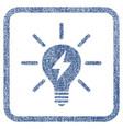 electric light bulb fabric textured icon vector image vector image