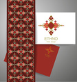 ethno tribal design vector image