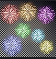 festive fireworks set christmas firecracker light vector image