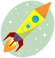 Flight of the Space Rocket vector image vector image