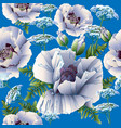 flowers seamless pattern poppies vector image vector image