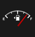 fuel gauge for your design full and empty signs vector image vector image