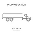 fuel truck in linear style vector image