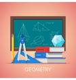 Geometry science education concept poster vector image vector image