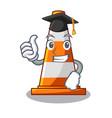 graduation traffic cone on made in cartoon vector image vector image