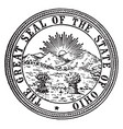 great seal state ohio vintage vector image vector image
