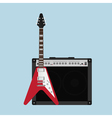 Guitar amplifier guitar vector image vector image