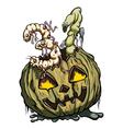 Halloween 31 date consist of rotten pumpkin and vector image vector image