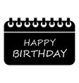 Happy birthday icon simple style vector image