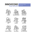 home services - line design style icons set vector image vector image