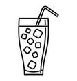 ice soda cocktail icon outline style vector image vector image