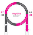 Infographic in a circle shape vector image vector image