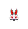 kitsune mask japanese traditional mask vector image vector image