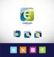 Letter e logo set icon vector image vector image