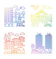 line village and city landscape banners vector image vector image