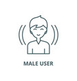 male user line icon linear concept vector image vector image