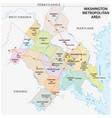 map washington dc metropolitan area vector image