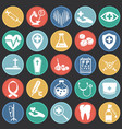 medical icons set on background vector image vector image