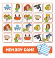 memory game for children cards with mermaids and vector image vector image