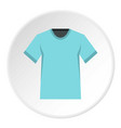 men tennis t-shirt icon circle vector image vector image