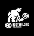 modern bodybuilding logo vector image